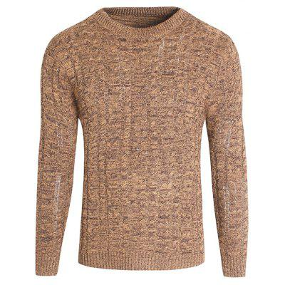 All-match mince col rond hommes pull en tricot