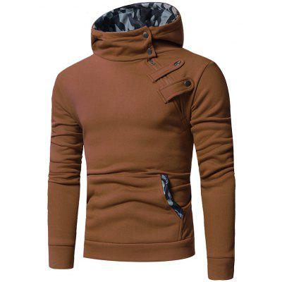 Stylish Slim Splicing Hooded Hoodies for Men