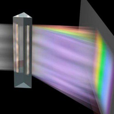 Optical Glass Light Spectrum Triangular Prism