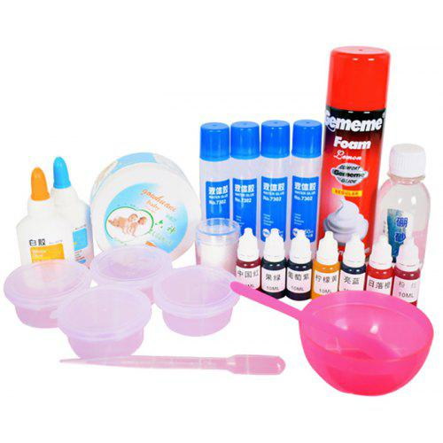 Diy Fluffy Iceberg Slime Putty Stress Relief Toy Set