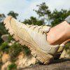 Outdoor Anti-slip Shock-absorbing Hiking Shoes - LIGHT KHAKI