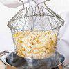 Creative Foldable Stainless Fried Basket for Kitchen - SILVER