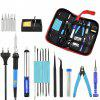 DIY Adjustable Temperature Electric Soldering Iron Set - BLACK