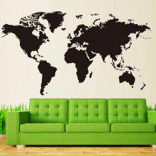 World map wall sticker online deals gearbest diy removable world map pattern wall sticker gumiabroncs Gallery