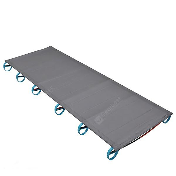 Aotu AT6746 Outdoor Ultralight Aluminum Alloy Folding Camping Bed - DARK GRAY