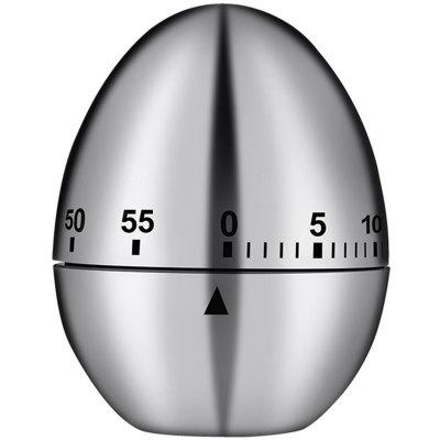 Kitchen Timer Stainless Steel Egg Shaped Mechanical Drive Alarm Cooking Tool