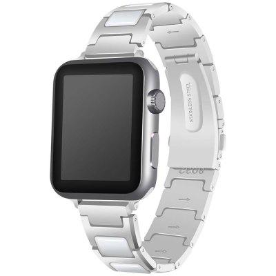 Fashion Stainless Steel + Ceramic Strap for Apple Watch 42mm