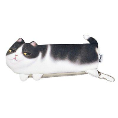 3D Cat Pencil Case Office Kids Stationery Cosméticos Bolsa Bolsa