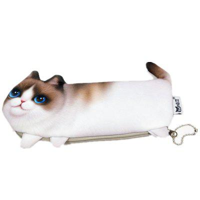3D Cat Pencil Case Office Kids Stationery Cosmetics Pouch Bag