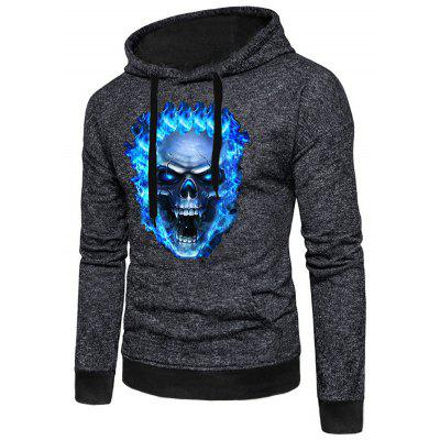 Men Stylish Halloween Print Long Sleeve Hoodie