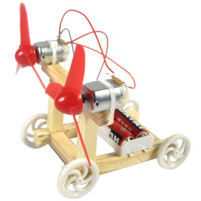DIY Montowane Wind Racing Car Science Experiment Toy