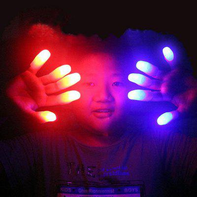 Light Up Thumb Finger Fingertips Party Magic Tricks Rekwizyty 5szt