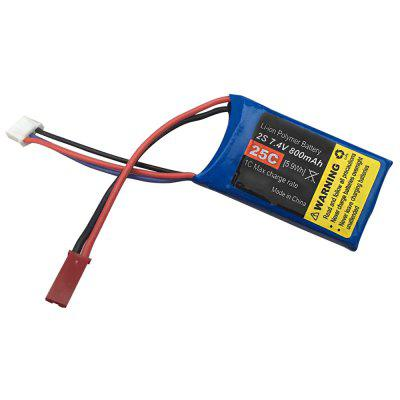 Original Mirarobot 2S 7.4V 800mAh 25C JST LiPo Battery for M600 RC Airplane