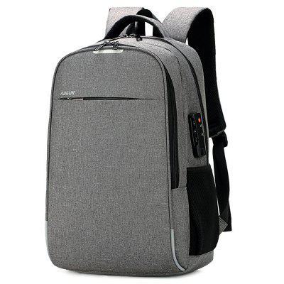 AUGUR Anti-theft USB Charging Port Travel Backpack