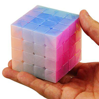 Qiyi 4 x 4 x 4 Jelly Magic Cube Speed ​​Toy do treningu mózgu