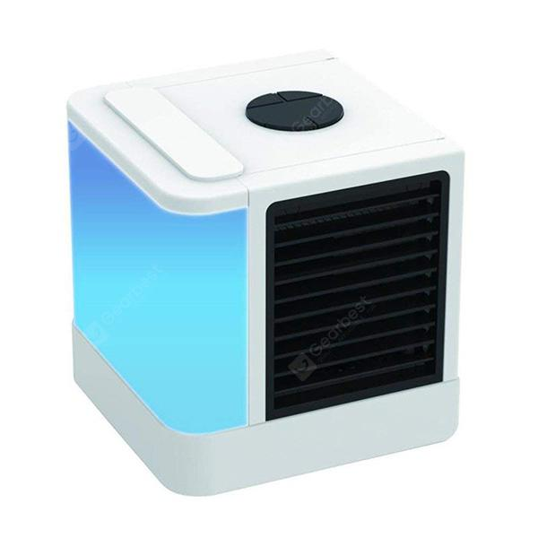 Portable Mini Air Purifier Humidifier Conditioner Desktop Cooler Fan - MILK WHITE from Gearbest Image