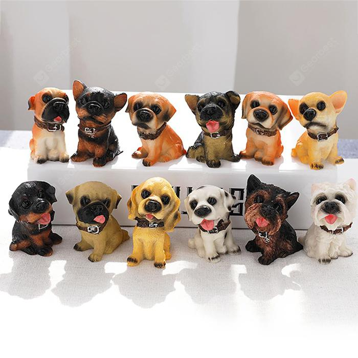 Puppy Model Dog Figure Children Toy Doll 12PCS - MULTI