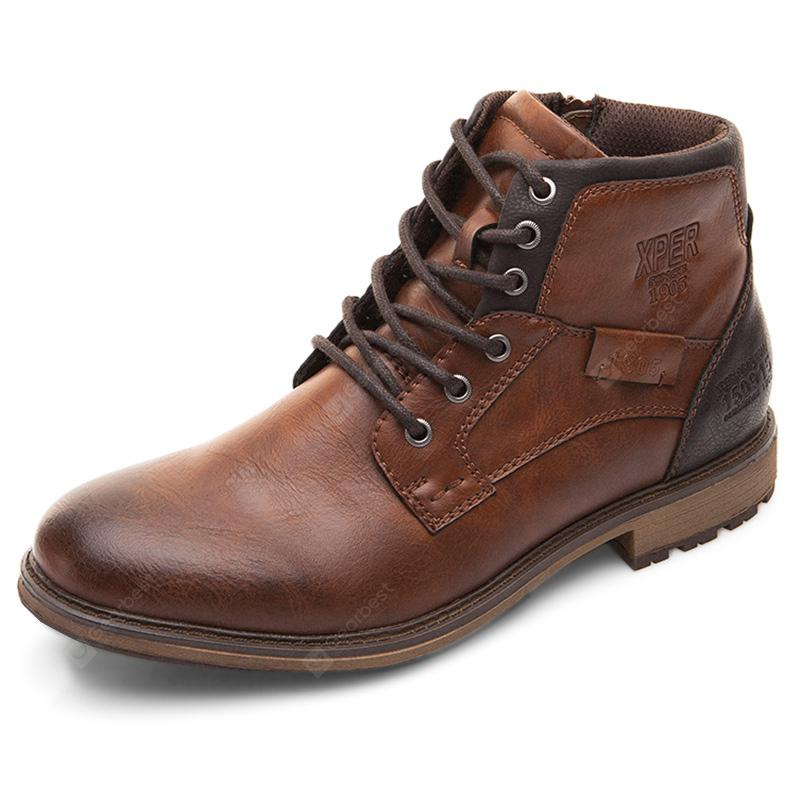 XPER Men Comfortable Lace-up Classic High-top Boots