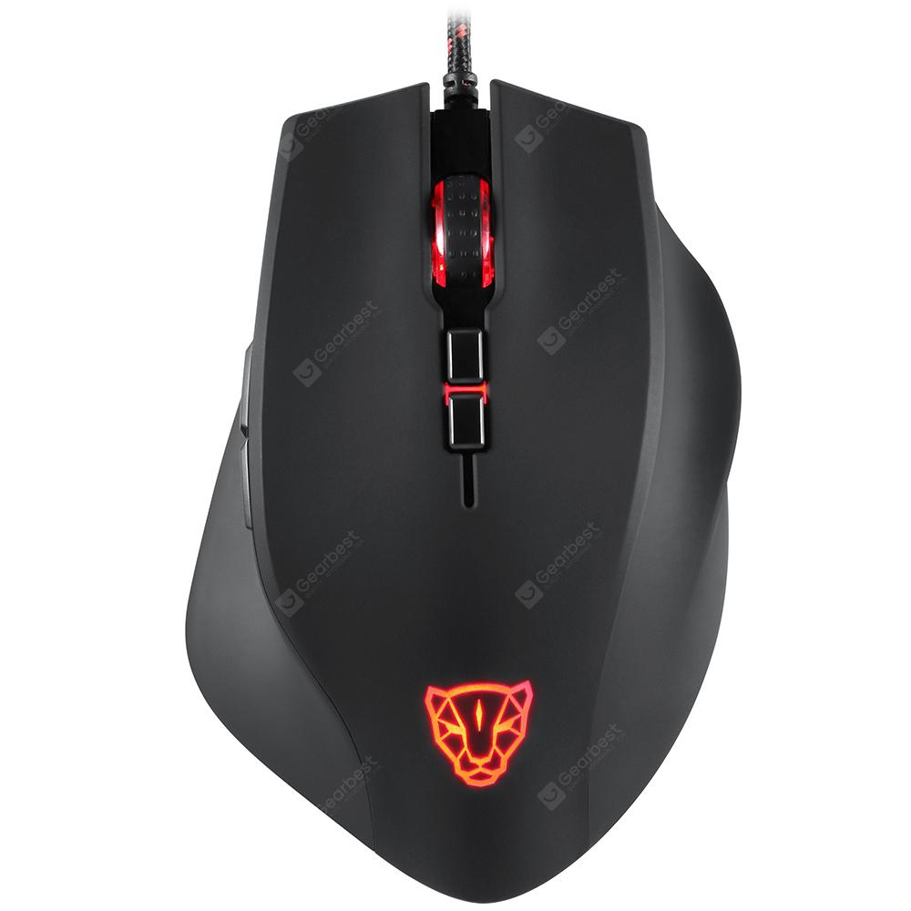Motospeed V80 Wired Mouse RGB 5000DPI - BLACK