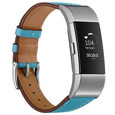 Easy Disassembly Top Leather Watch Strap for Fitbit Charge 2