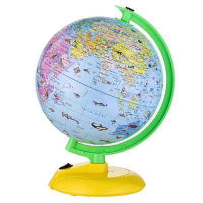 Illuminated LED World Globe for Kids with Stand