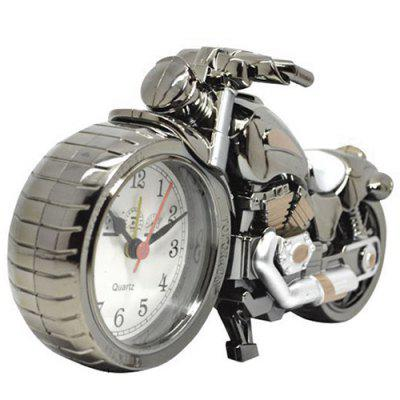 Creative Retro Motorcycle Alarm Clock Desk Ornament Gift