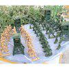 Military Equipment Plastic Soldier Model Toys Gift 122pcs - ARMY GREEN