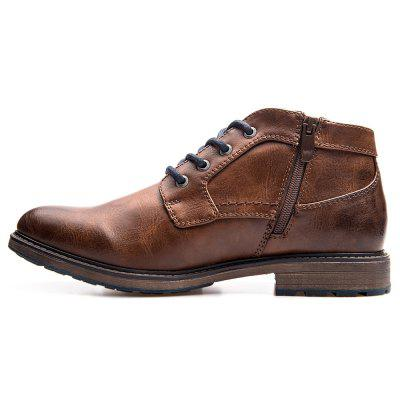 Gearbest Only $31.99 for XPER Men Trendy British Style Anti-slip Cotton-padded Lace-up Boots promotion