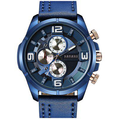 BAGARI 1801 Business Quartz Watch para Homens