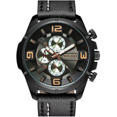BAGARI 1801 Business Quartz Watch for Men