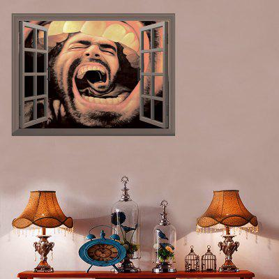 018 3D Window Laughing Mouth Wall Sticker