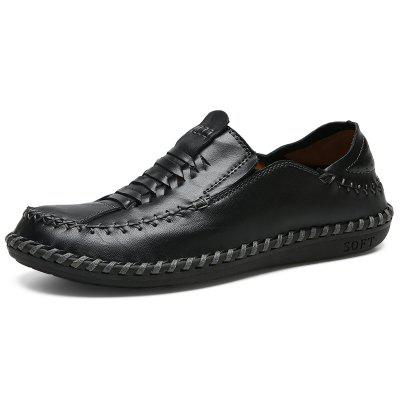 Leisure Wear-resistant Slip-on Casual Men Leather Shoes