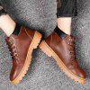 Casual Fashion PU Martin Boots for Men - BROWN