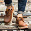 Stylish Low-top Lace-up Casual Shoes Men Boots - BROWN