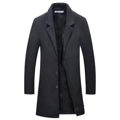 Button Fashion Long Overcoat for Men