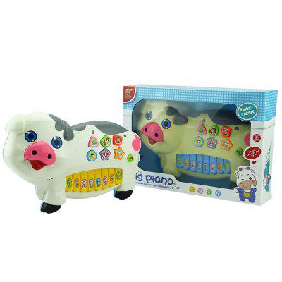 NO - 6606 Cute Sound Light Pig Piano