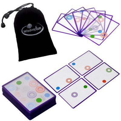 Educational Transparent Cards Game Desktop Toy Set