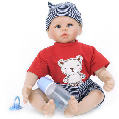 WW - 854 Simulation Soft Silicone Reborn Baby Doll Toy