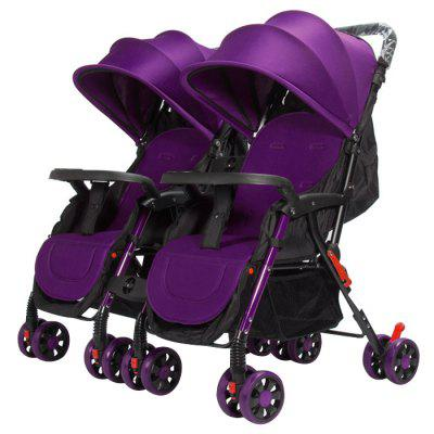 GIFT Detachable Four-wheeled Twin Baby Stroller