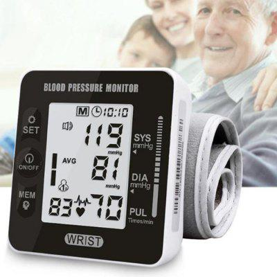 LCD Display Digital Electronic Voice Blood Pressure Monitor Pulse Tester