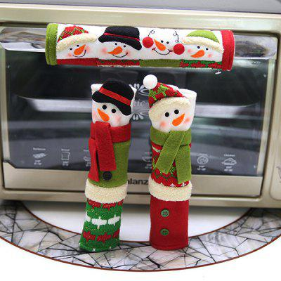 Christmas Handle Protective Cloth Cover 3pcs