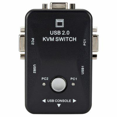 KVM Switch 2 in 1 VGA Switcher 3 Ports USB 2.0 2 Ports USB BF Converter
