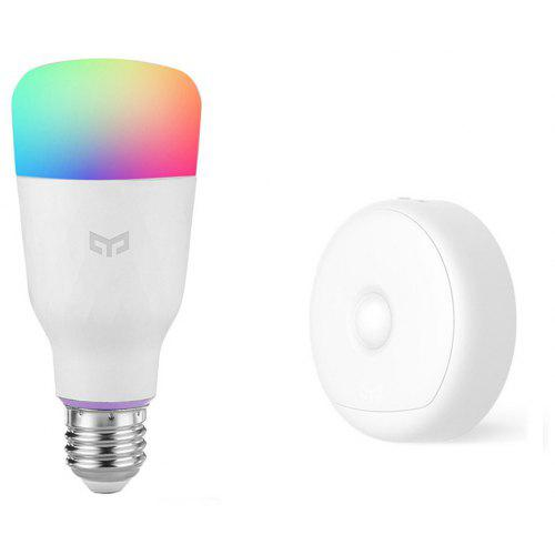 Gearbest Yeelight Combination Light Smart Bulb E27 / USB Night Lamp - White Photosensitive and Infrared Human Sensor