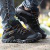 Outdoor Fashion Shock-absorbing Crash Toe Hiking Shoes - BLACK