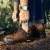 Men Lace Up Outdoor Mountaineering Hiking Shoes - BROWN