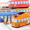 Creative Running Bus Pencil Case Students Canvas Cute Stationery Bag - GOLDEN BROWN