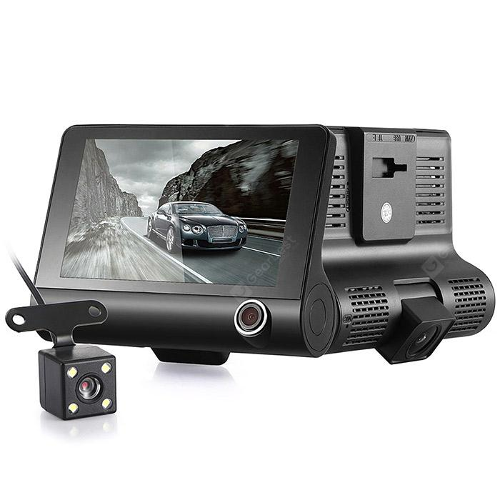 KATUXIN A32 Full HD 1080P Car DVR 4 inch Dash Cam - Black