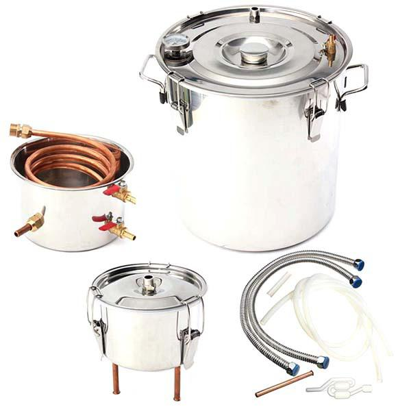 Stainless Steel Home Distiller for Alcohol - Silver 30L
