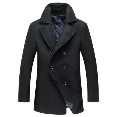 Stylish Double-breasted Wool Coat for Men