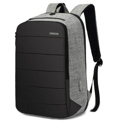 Solid Color Oxford Fabric Backpack